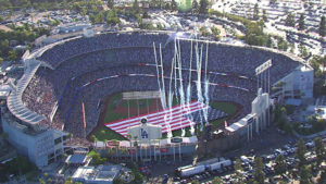 Dodger Stadium World Series Aerials | AVS Aerial Video Systems