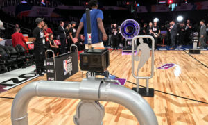 NBA All Star Pylon Cam | AVS Aerial Video Systems